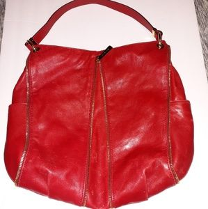 Red Michael Kors Hobo bag